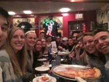 Juniors 2017 having pizza in NYC